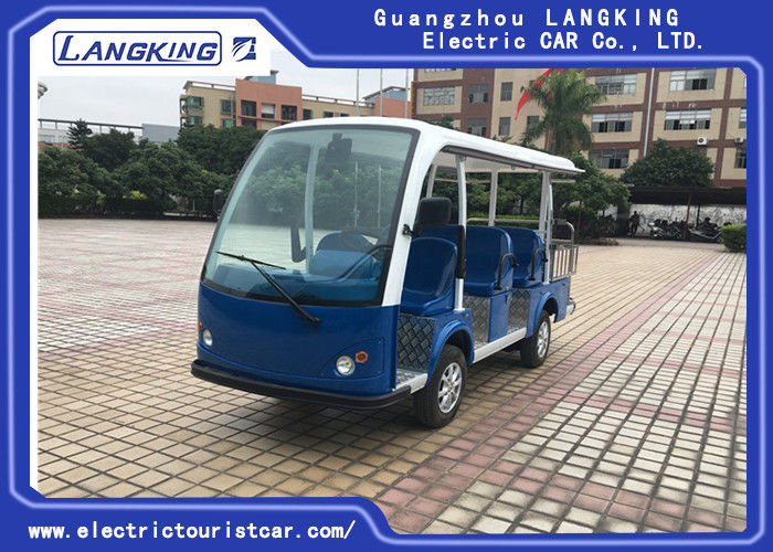 Multi - Purpose Electric Sightseeing Bus 11 Seater with a Cargo Box Tourist Coach